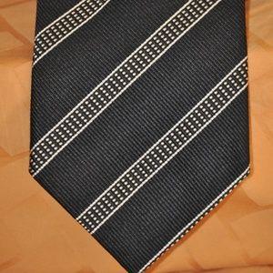 Ermenegildo Zegna Blue Diagonal Stripe Tie MINT